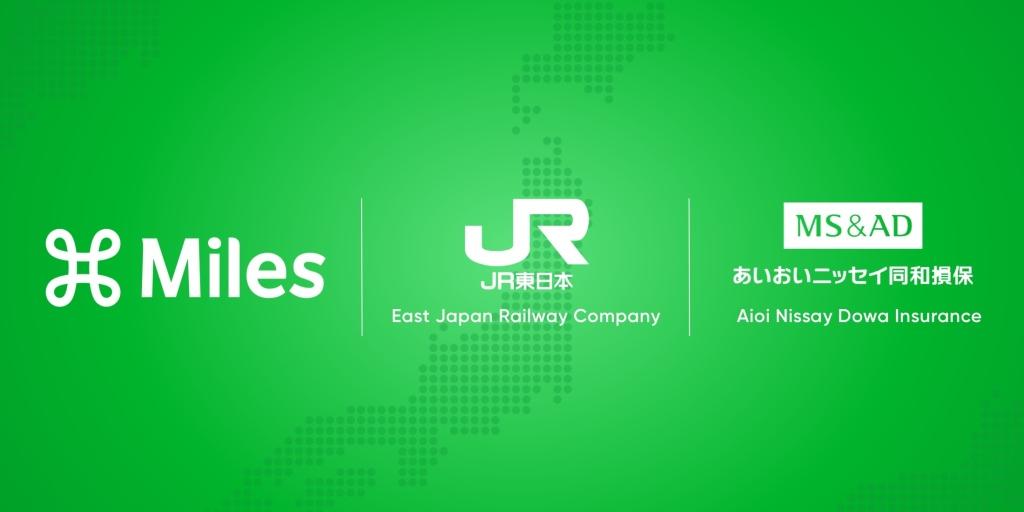 Miles App. East Japan Railway. Aioi Nissay Dowa Insurance.